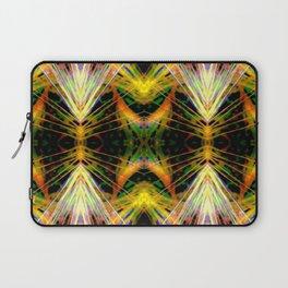 Yellow Bright Rays,Fractal Art Laptop Sleeve
