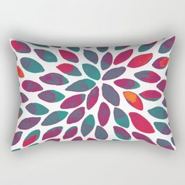 Watercolor brush strokes - multicolor Rectangular Pillow