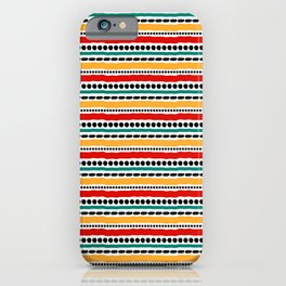 Lines and Dots 4 iPhone Case