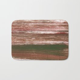 Van Dyke Brown abstract watercolor Bath Mat