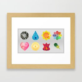 Kanto Region Badges Framed Art Print