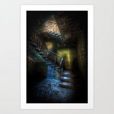 Steps into the light Art Print
