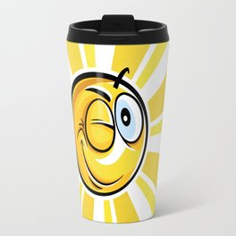 Blinking Smiley Travel Mug