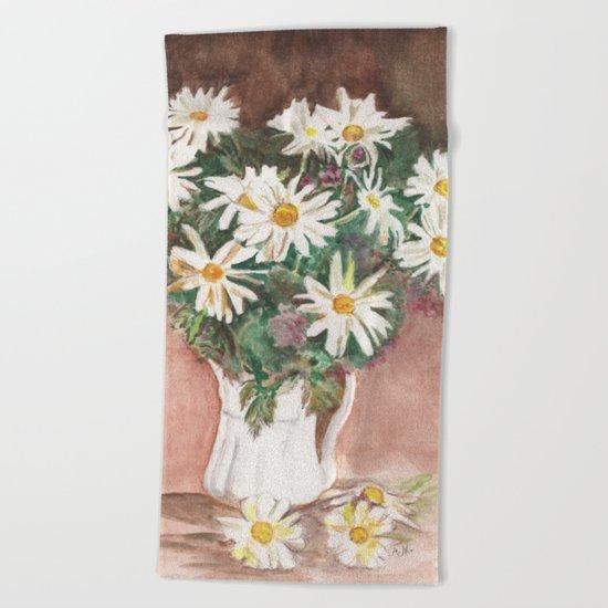 Still Life of Daisies Beach Towel