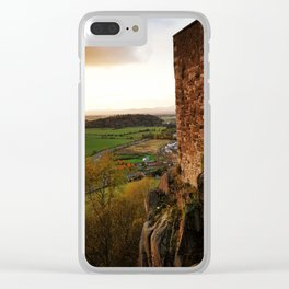 Stirling Castle Sunset Clear iPhone Case