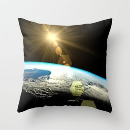 Earth outer space Throw Pillow
