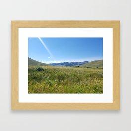 Cabin Creek Meadow Framed Art Print