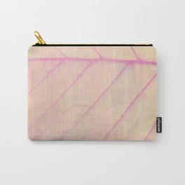 Pink Leaf Abstract Carry-All Pouch