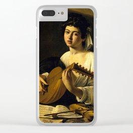 "Michelangelo Merisi da Caravaggio ""The Lute Player"" Clear iPhone Case"
