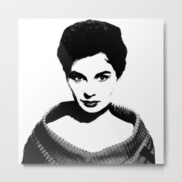 Jean Simmons Is Class Metal Print