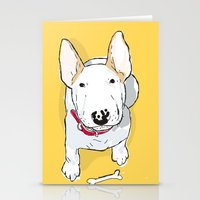 bull terrier Stationery Cards featuring bull terrier by bbay