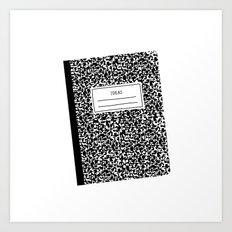 composition book Art Print