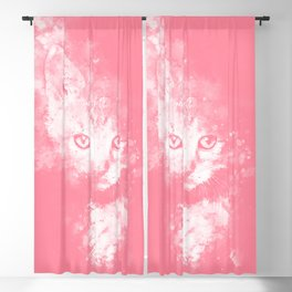 abstract young cat wspw Blackout Curtain
