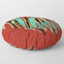 Love Exotic Hearts Floor Pillow