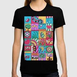 Inchie Doodle Design - Blue Red - Spring T-shirt
