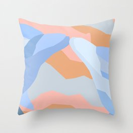 Dolphin Kiss in Pastel Throw Pillow