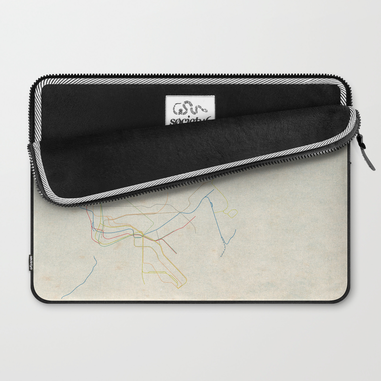 Nyc Subway Map Zippered Wallet.Minimal New York City Subway Map Laptop Sleeve