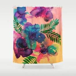 Skye Floral Shower Curtain