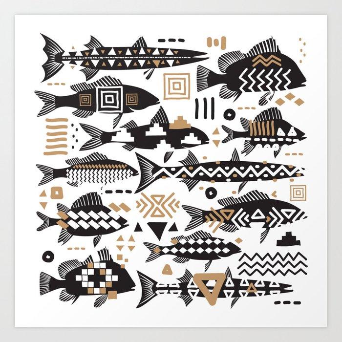 Boho Fishes Kunstdrucke