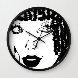 Thoughts of You...(Black&White) Wall Clock