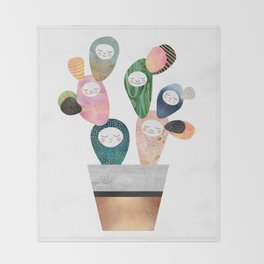 Sleepy Cactus Throw Blanket