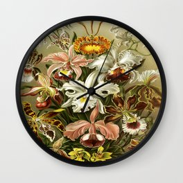 Ernst Haeckel Kunstformen der Nature Orchids Wall Clock