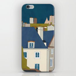 france houses abstract art iPhone Skin