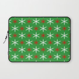 Red and white snowflakes pattern Laptop Sleeve