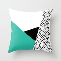 Geometric Modern Triangles with Spots Throw Pillow