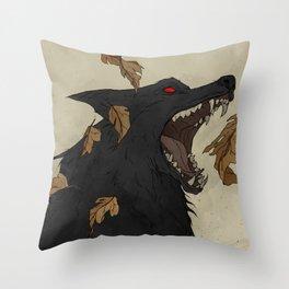 Black Shuck I Throw Pillow
