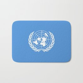 Flag on United nations -Un,World,peace,Unesco,Unicef,human rights,sky,blue,pacific,people,state,onu Bath Mat