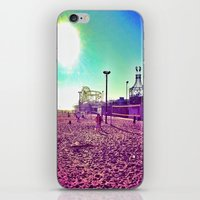 santa monica iPhone & iPod Skins featuring Santa Monica by SefoG