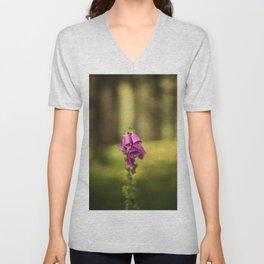 Wildflower Foxglove Unisex V-Neck