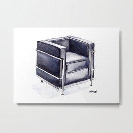 LC2 Petit Modele Armchair Metal Print