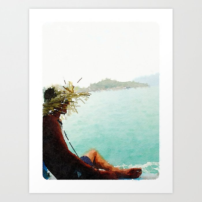 Chilling in Paradise Art Print