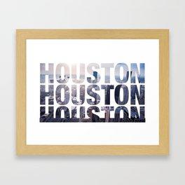 Houston Landscape Framed Art Print