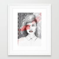 true blood Framed Art Prints featuring true blood by semaiscan