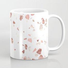 Metallic Rose Gold Terrazzo Coffee Mug