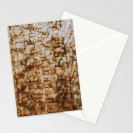 Bokeh art pattern photography - orange minimalism  Stationery Cards