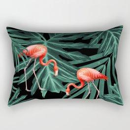 Summer Flamingo Jungle Night Vibes #2 #tropical #decor #art #society6 Rectangular Pillow