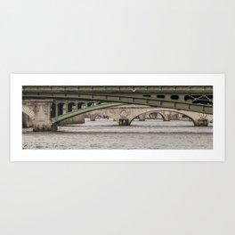 Bridges on Bridges Art Print