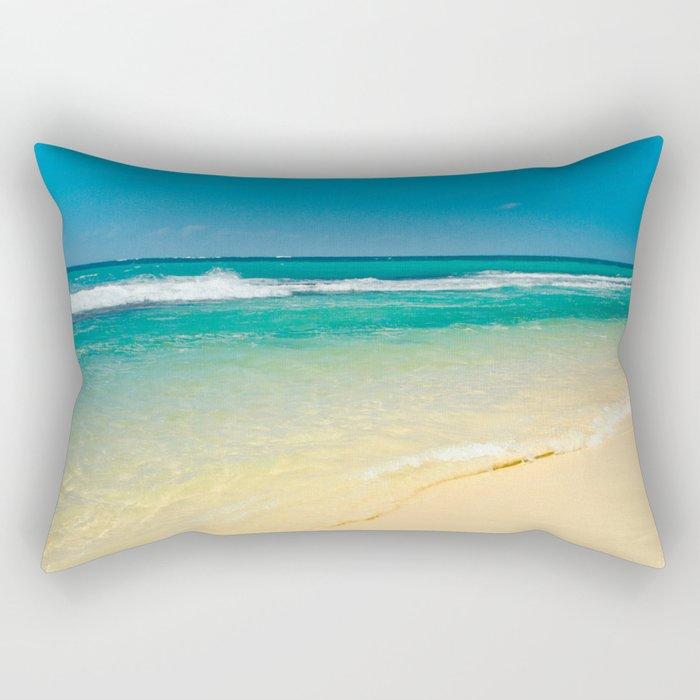 maui beaches into the blue Rectangular Pillow