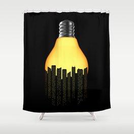 Bright Light Big City Shower Curtain