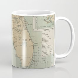 Vintage Lighthouse Map of Florida (1898) Coffee Mug