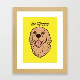 Be happy with the cute Golden Retriever Framed Art Print