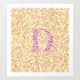 """""""D"""" Eye Test Full Art Print"""