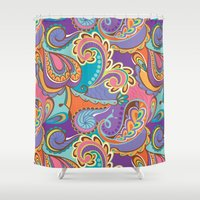 paisley Shower Curtains featuring Paisley by Struthers Studios