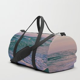 Sunset Crashing Waves Duffle Bag
