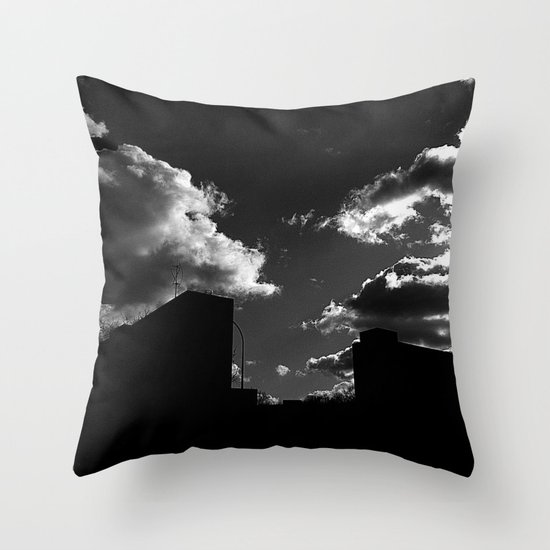 The Clouds above-Monochrome version Throw Pillow