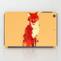 spirit iPad Cases featuring The fox, the forest spirit by Picomodi